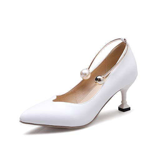 Sandales Blanc EU 1TO9 Femme MMS06255 Compensées 5 Inconnu Blanc 36 vE6Tq