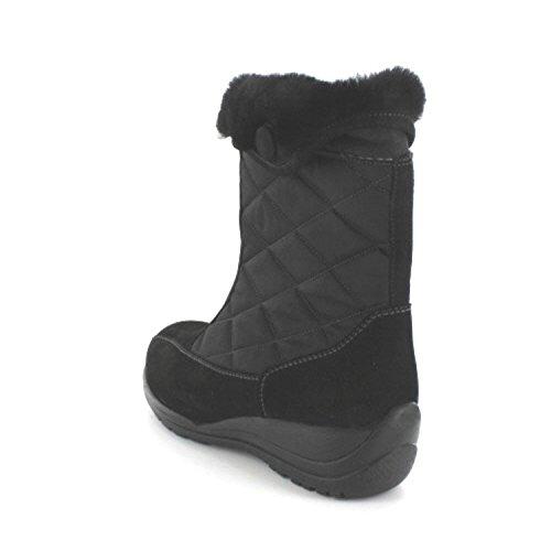 Waldläufer - Botas de cuero nobuck para mujer negro - negro