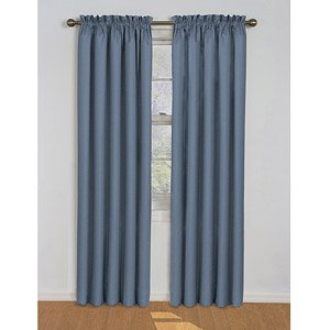 Eclipse Samara Blackout Energy Efficient Curtain Panel  Assorted Sizes And Colors  Stone Blue  42 In  W X 54 In  L