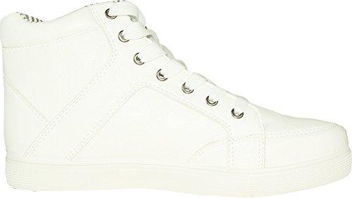Coronado Män Avslappnade Sko Gatsby-6 Sneaker Boot Komfort Mjuk Med En Moc Tå Vit 6m