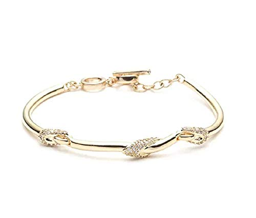 (Carolee Women's 7.5 Inch Flex Bar Bracelet, Gold/Crystal)