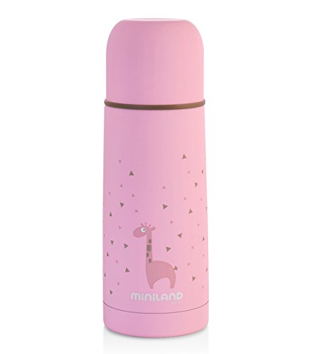 Termo bebé MINILAND Silky Thermos Pink 350ml Líquidos 24h Miniland Baby