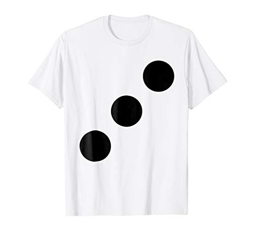 Human Dice 3 Halloween Group Team Matching Costume T Shirt ()