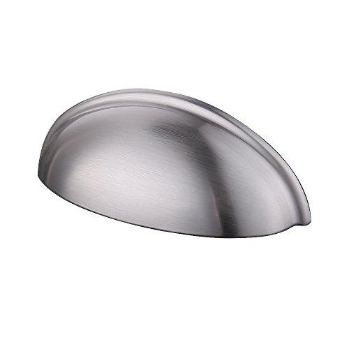 KES Cabinet Knob Seashell Shape Cupboard Drawer Hand Pull 76 MM or 3-1/8
