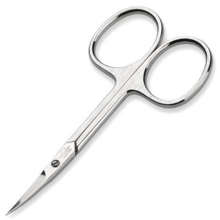 Malteser Manicure Solingen German Nickel Plated Hardened Stainless Steel Curved Cuticle Scissor by John O'Donnell