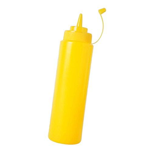 - Jili Online Various Plastic Squeeze Bottle Ketchup Mustard Honey Sauce Dispenser Jar - Yellow, 240ml