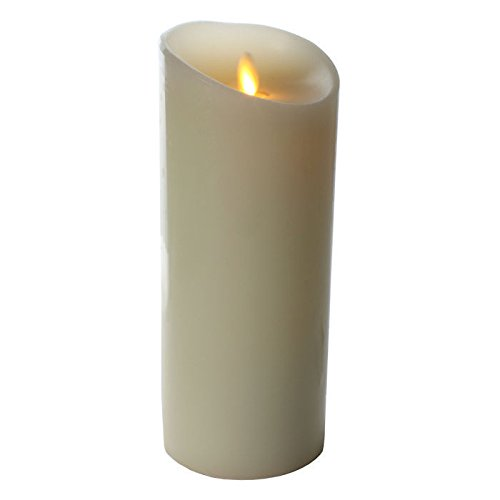 """PCT Brands Luminara 7"""" Unscented Flameless Candle, Ivory"""