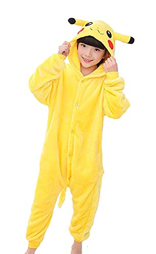 Tonwhar Costumes for Children Kids Cuddly Onesie Pajamas Yellow]()