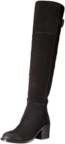 Aldo Kvinners Evia Riding Boot Svart Semsket Skinn
