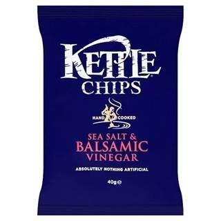 Kettle Chips Sea Salt & Balsamic Vinegar 40G X Case Of 18