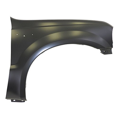 Titanium Plus Autoparts, 2001-2004 Fits For Ford Excursion | 1999-2007 Ford F-Serries Super Duty Front,Right Passenger Side Fender WITHOUT WHEEL OPENING MOULDING HOLE,WITHOUT FENDER FLARE HOLE ()