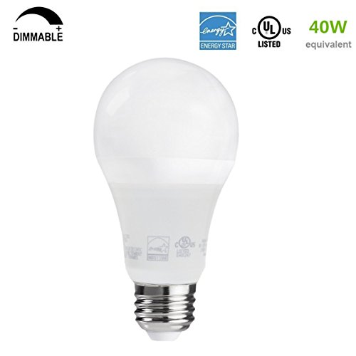 from usa led a19 dimmable bulb 6w 40 watt equivalent. Black Bedroom Furniture Sets. Home Design Ideas