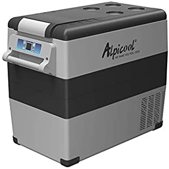 Alpicool CF55 Portable Refrigerator/Freezer 58 Quart(55 Liter) Vehicle, Car, Truck, RV, Boat, Mini Fridge Freezer for Driving, Travel, Fishing, Outdoor and Home use -12/24V DC and 110-240 AC
