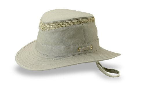 Tilley Unisex T5MO Organic Cotton Sun Protection AirFlow Hat, 8+ or 26 1/8 in., Solid Olive
