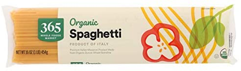 365 by Whole Foods Market, Organic Pasta, Spaghetti, 16 Ounce