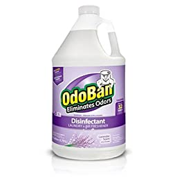 OdoBan Disinfectant Odor Eliminator and All Purpose Cleaner Concentrate, , 128 oz (2, Lavander)