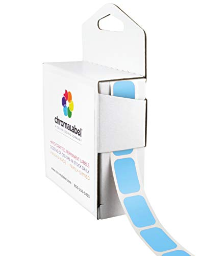 ChromaLabel 1/2 x 3/4 inch Color-Code Labels | 500/Dispenser Box (Light ()