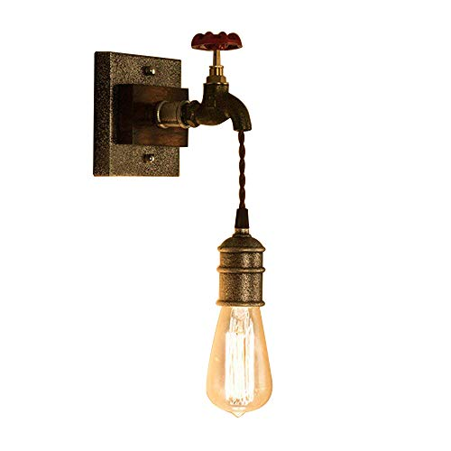 KunMai Vintage Metal Water Pipe Edison Bulb Hanging Indoor Wall Light Sconce Fixture Retro (1-Light) For Sale