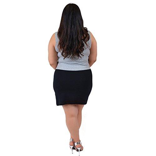 Stretch-is-Comfort-Womens-Plus-Size-Cotton-Soft-Stretch-Fabric-Basic-Mini-Skirt