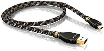 1Piece 1,0m VIABLUE KR-2 Silver USB-Cable A//Mini-B