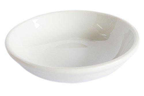 [(Set of 4) Amatahouse Elegant Round Soy Sauce Dish Sushi Wasabi Plates Soy Sauce Dipping Bowls Royal Porcelain Classic White 4
