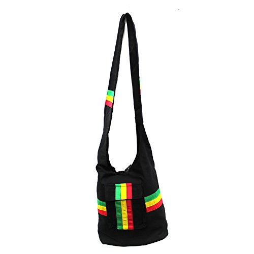 Rasta Shoulder Purse Sling bag Tote bag by ()