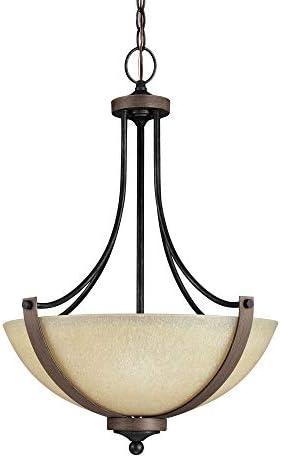 Sea Gull Lighting 6680403-846 Corbeille Three-Light Pendant Hanging Modern Light Fixture, Stardust Finish