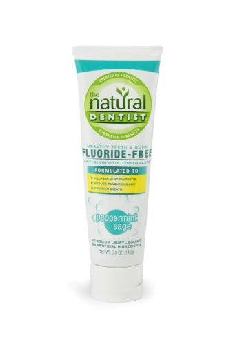 - The Natural Dentist Healthy Teeth & Gums Fluoride Free Toothpaste, Peppermint Sage, 5-Ounces (Pack of 3)