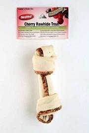 Healthy Real Cherry 8-9  Rawhide Dog Bone 1pk.