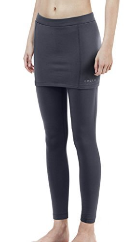 TM-XUP36-DGY_Large Tesla Women's Thermal Fleece Compression Skirt w/ attached leggings - Running For Skirts