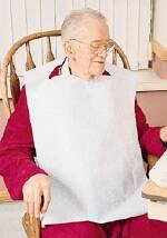 McKesson Bib Adult 16''X32'' Tissue Poly Clothing Protector White - Case of 300 - Model 18-964