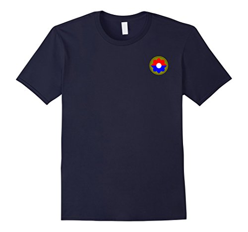 Mens Army 9th Infantry Division Military Veteran Morale T-Shirt XL Navy (9th Infantry Division)