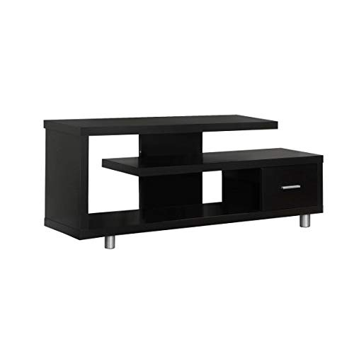 Brown TV Stand Console Storage Media TV Cabinet Display Shelf 3-Tier Open Shelves Unit Drawer Video Living Room Furniture Organizer Entertainment -