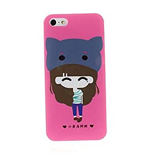 Mini - Lovely girl series TPU Soft Back Cover Case for iPhone 5/5S