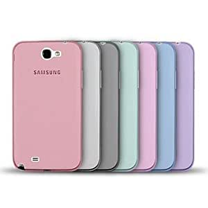 NEW Angibabe Jelly Transparent TPU Soft Back Case for Samsung Galaxy NOTE 2/ N7100 , Blue