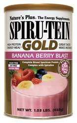 Spiru-Tein Gold Banana Berry Blast Nature's Plus 1.03 lb ...