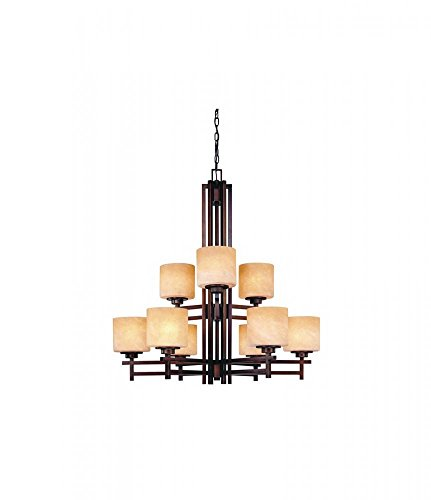Cheap Dolan Designs 2812-133 Roxbury 9 Light 2 Tier Chandelier, English Bronze