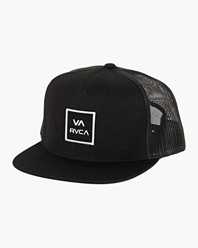 Rugged Trucker Cap - RVCA Men's Va All The Way Mesh Back Trucker Hat, Black One Size