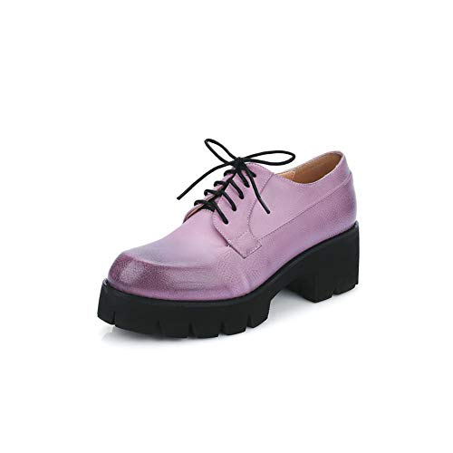 BalaMasa Womens Solid Travel Huarache Urethane Pumps Shoes APL10599 Purple