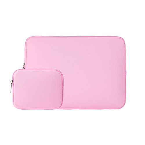Gateway Chassis (RAINYEAR 14 Inch Laptop Sleeve Slim Computer Case Padded Sleeve Carrying Bag With Small Case for Charger or Mouse, for 14 Notebook Ultrabook Chromebook Of Dell/HP/ThinkPad/Lenovo/Asus/Acer(Pink))