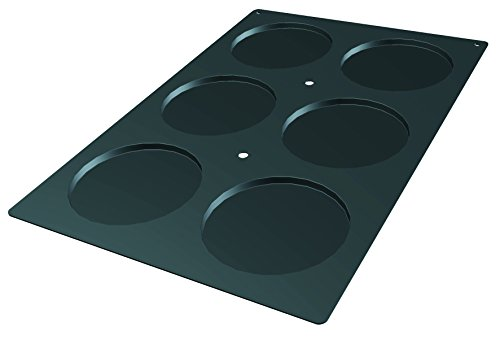 Lekue Professional Baking 6 Cavities Disc Mold, 23.6'' x 15.7'', Black by Lekue