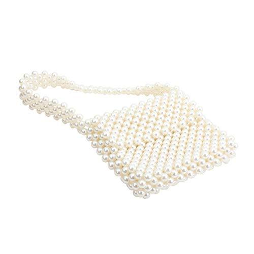 Women's Vintage Style Pearl Bag Shoulder Bags Handmade Weave - Handbag Pearl