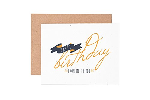 Ruff House Art Birthday Banner Wildflower Seeded Letterpress Greeting Card Box Set
