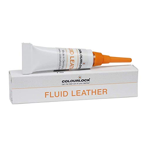 Colourlock Fluid Leather Filler 7ml for Repairing Small Holes, tears, Deeper Scratches & Cracks on car Leather interiors Compatible with BMW Cognac