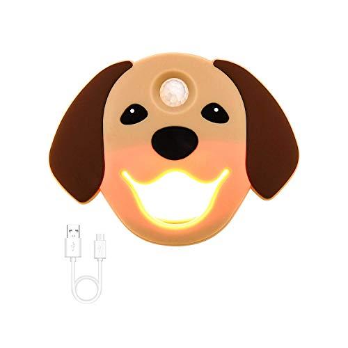 Sensor Night Light, Doggy Faceplate on/Off, Stick Anywhere, USB, Hight Sensor Range  450498  Yogyro