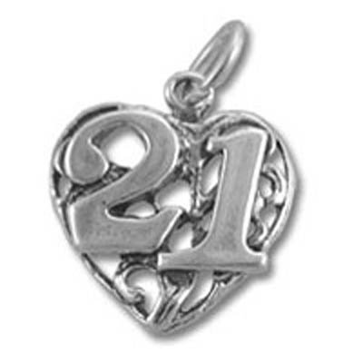 21st Birthday Heart - 7