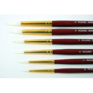 Acrylics Special Value Brushes for Oil 6 Brushes Windsor /& Newton