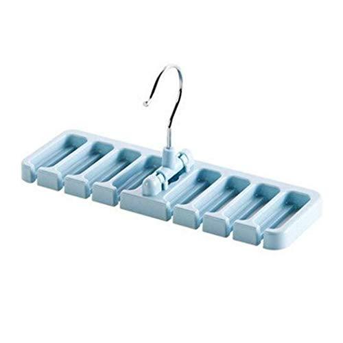 (Durable 8-Hole Position Necktie Storage Rack Home Organizer WT88 (Colors - Blue))