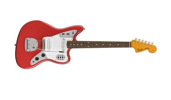 Classic 60s Jaguar Pau Ferro Fretboard Lacquer Fiesta Red: Amazon.es: Instrumentos musicales