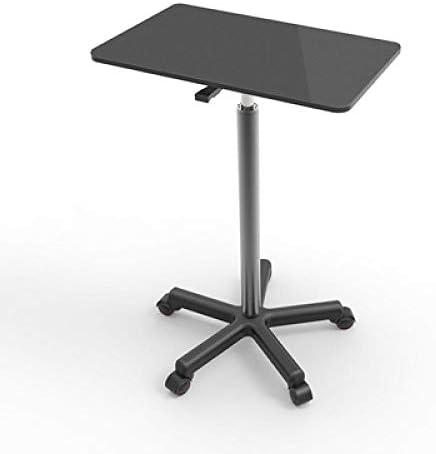 ナイロン オフィスワークテーブル デスク 食卓 黒MDF 付き,pcプラットフォーム・スタンド 高さ調節可能、ロック可能なキャスター、